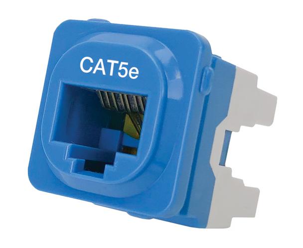 P4665BLU-10 CAT-5E IDC DATA JACK BLUE