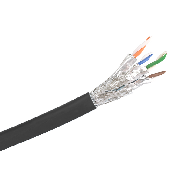 Cat6a S/FTP Solid LSZH Cable 305m Reel : Black
