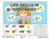 Life Skills: Learning To Print Groceries- No Prompts: 100 Flashcards: Pages 27
