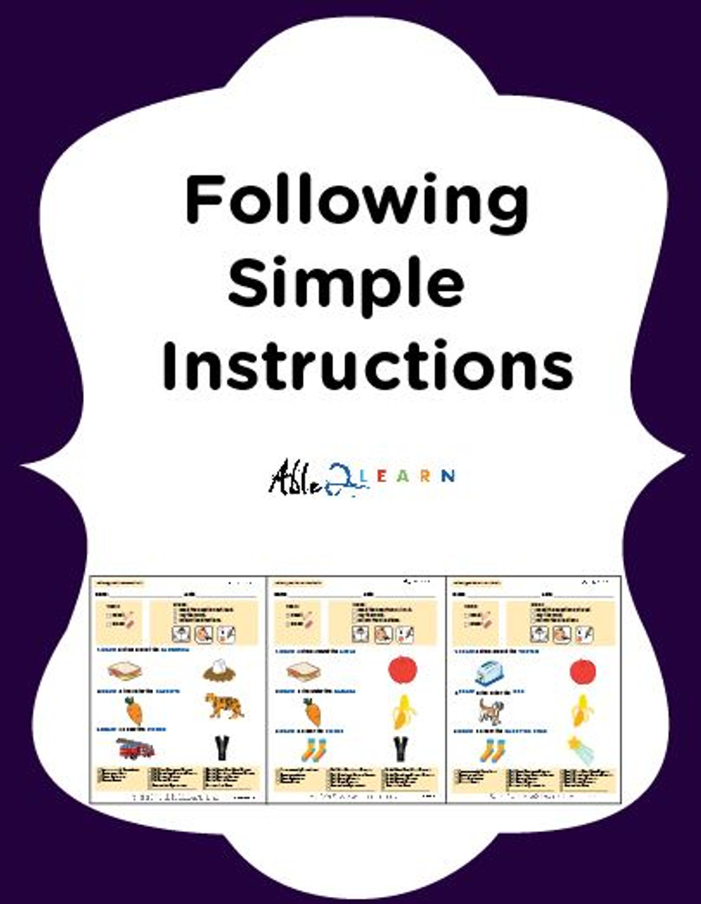 Following Simple Directions Workbook Free Teaching Resources Reading eggs workbooks canada