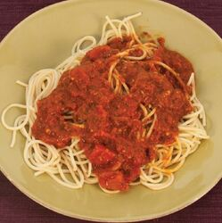 Spaghetti and Tomato Sauce  Visual  Recipe And Comprehension Sheets: Pages 23