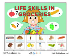 Life Skills: Learning To Print Groceries: 100 Flashcards: Pages 27