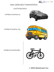 Niam Learns About Transportation: Vocabulary Building: Pages 11
