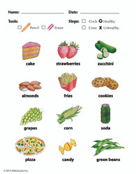 Healthy vs. Unhealthy: The Food Group -  Pages 1