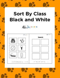Sort By Class Program With Sorting Mat: Black and White Pictures Pages 12