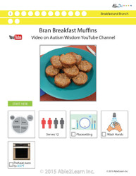 High Protein Bran Breakfast Muffins Visual  Recipe And Comprehension Sheets: Pages 29