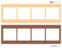 Blank Speech Exchange Strip- 4 Piece Card - 5 Pages