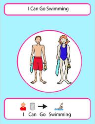 Free swimming autsim social story