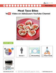 Meat Taco Bites  Visual  Recipe And Comprehension Sheets: Pages 30