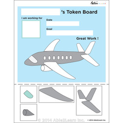 Token Board - Airplane - 4 Tokens