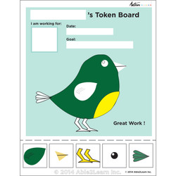 Token Board - Bird - 5 Tokens