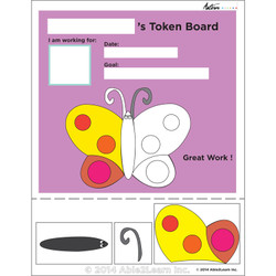 Token Board - Butterfly - 3 Tokens