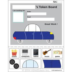 Token Board - Car - 3 Tokens