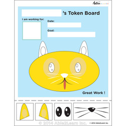 Token Board - Cat - 4 Tokens