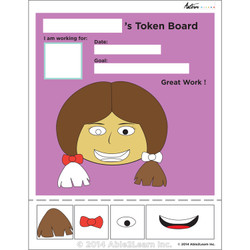 Token Board - Girl- 4 Tokens