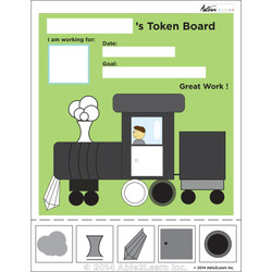 Token Board - Train - 5 Tokens