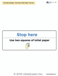 Toilet Paper Reminder Flashcard :1 Page