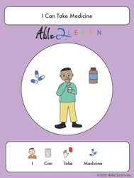 free social story_able2learn_i can take medicine_autism_autism and health_free Aba resources_free printable worksheets