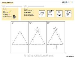 Drawing With Shapes - How to Draw a Christmas Tree