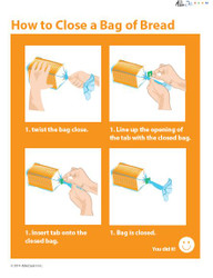Illustrated Cooking Skills - How to Close a Bread Bag