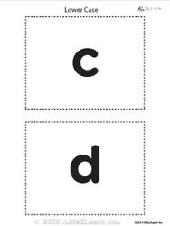 Lower Case Alphabet Flash Cards