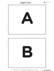 Upper Case Alphabet Flash Cards
