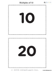 Counting - Multiple of 10's Flash Cards