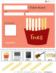 Token Board - Food French Fries - 5 Tokens
