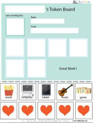 Token Board - Simple Hearts - 5 Tokens