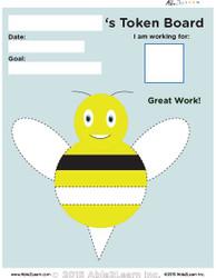 Token Board - Bumble Bee - 4 Tokens