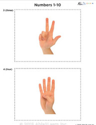 Sign Language Numbers 1-10 Flash Cards