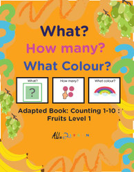 Fruit Themed Adaptive Books - Counting 1 - 10 (Lv. 1)-19 Pages