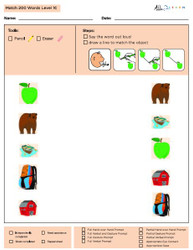 Identical Picture  Matching Program with ABLLS-R™ Words (Lv. 3)