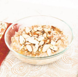 Banana Almond Oatmeal with Milk On Stove Top Recipe And Comprehension Sheets: Pages 23-( Lv 1)