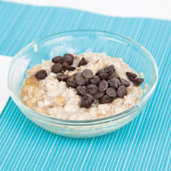 Banana Chocolate Chip Oatmeal with Milk Stove Top Recipe And Comprehension Sheets: Pages 23-( Lv 1)