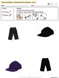 Visual Discrimination - Matching Pictures to Shadows - Clothing (Lv. 1)