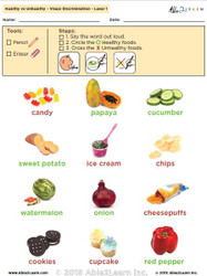 Healthy vs. Unhealthy: The Food Group - Level 1 Pages 8