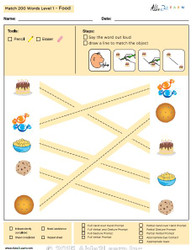 Food Identical Picture  Matching Program with ABLLS-R™ Words (Lv. 1)