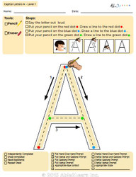 Letter Printing Uppercase A-Z (Lv. 1)