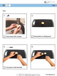Cooking Skills - How to Cut a Potato in Half
