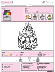 Colouring Program Level 5b - 10 Pages