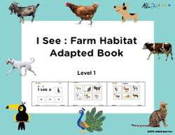 I SEE... Matching Identical Pictures: Farm  Animals: Adapted Book Level 1:  PAGES 31