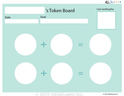 Money Token Board - Adding Loonie: B  No Visual Support: 2 Pages