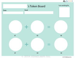 Money Token Board - Adding Loonie:  With  Visual Support B: 2 Pages