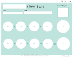 Money Token Board - Adding Quarters: Level 2  Visual Support: 2 Pages