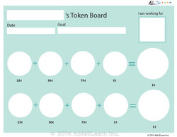 Money Token Board - Adding Quarters: Level B  Visual Support: 2 Pages