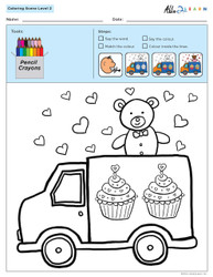 Colouring Sheets:  Scenes: Not Guided:  Level 2b  - Pages 10
