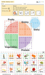 Matching and Learning About My Plate: The Food Group: Level 1  Pages  1