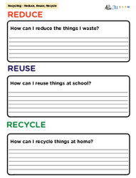 The 3 R's Question: Reduce, Reuse, Recycle: Pages 1