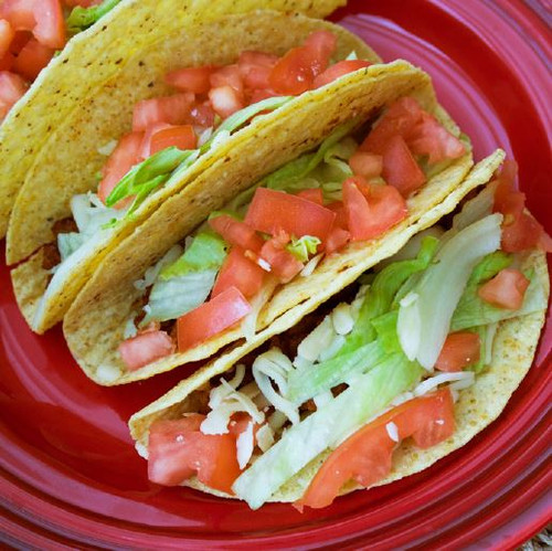 Meat Taco With Lettuce Tomato  Visual  Recipe And Comprehension Sheets: Pages 24